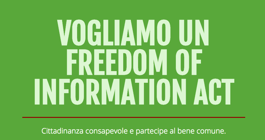 International Right to Know Day: support FOIA4Italy!