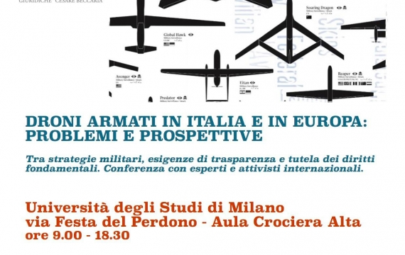 Armed drones: the program of the conference (Milan, September 25)