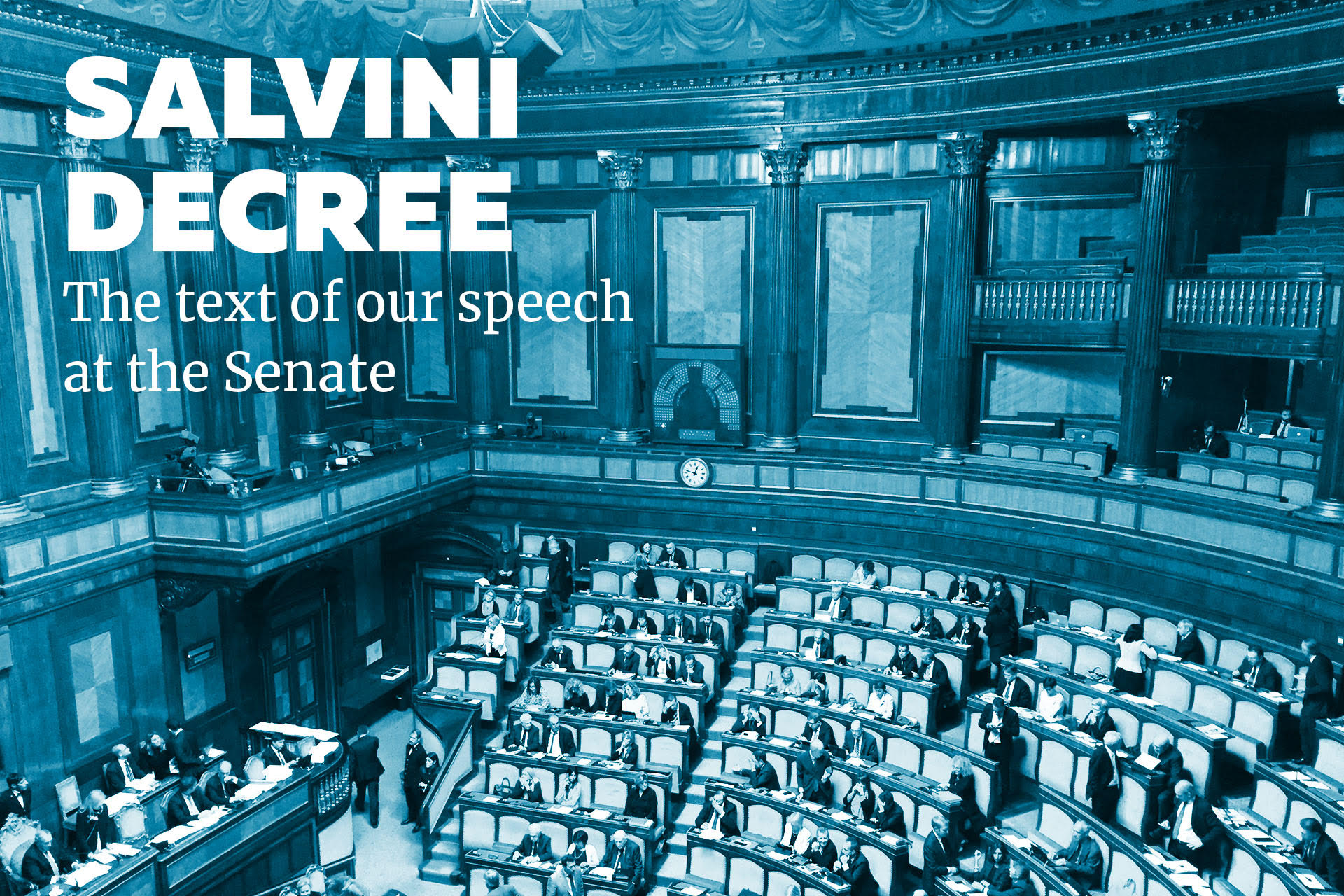 Salvini decree. The text of our speech at the Senate