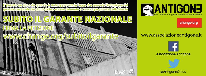 Subito il Garante Nazionale dei detenuti: una petizione di Associazione Antigone
