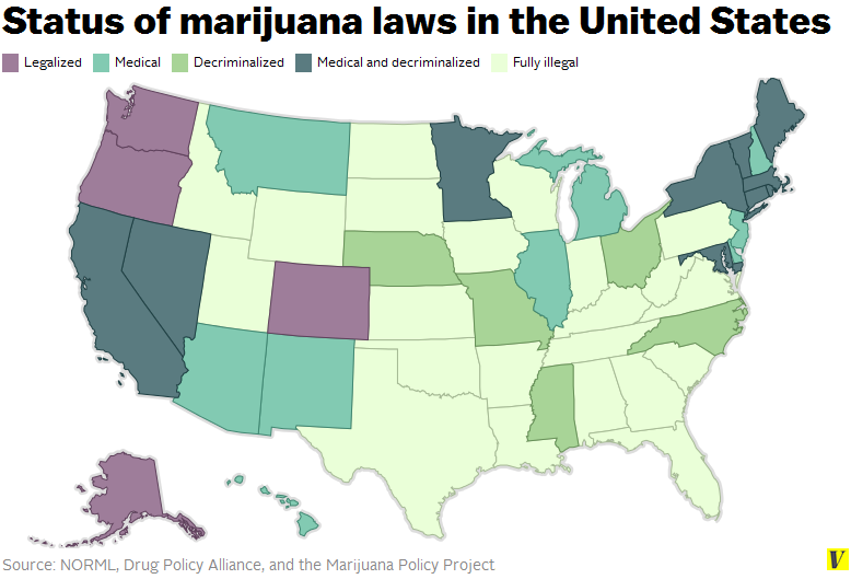 marijuana should not be legalized in united states No, we should not legalize recreational marijuana use by tim bradley a patchwork of different policies on marijuana's legal status in the states is untenable.