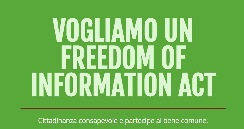 Giornata Mondiale dell'Accesso all'Informazione: firmate per FOIA4Italy!