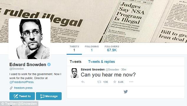Snowden su Twitter e la protezione dei whistleblower