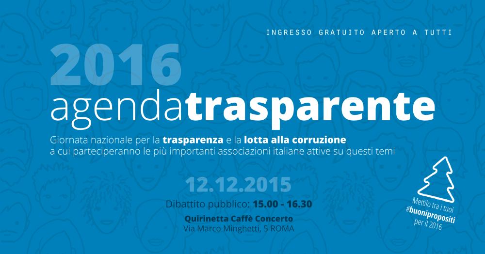 Il 12 dicembre mettiamo in agenda la trasparenza?