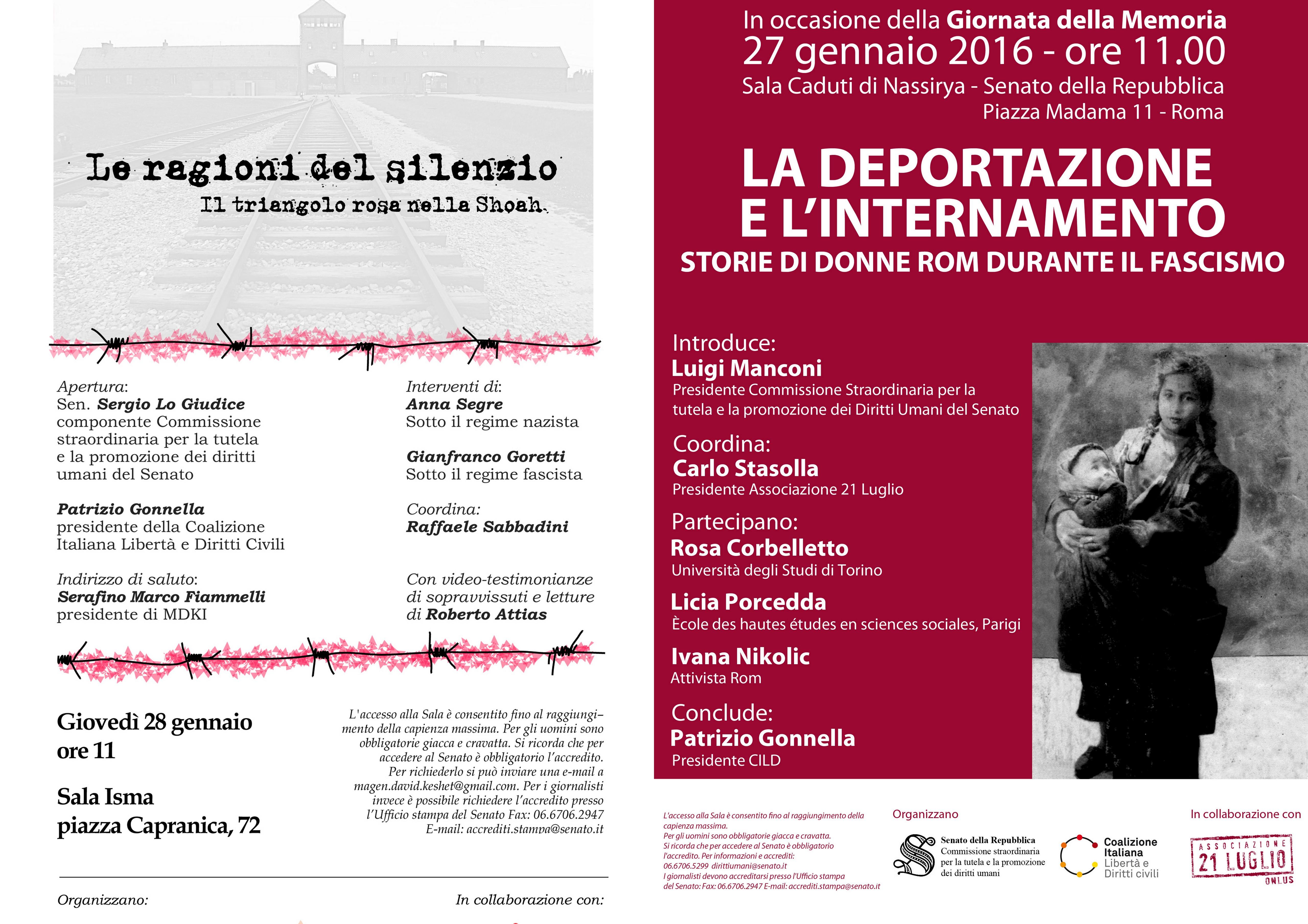 Giornata della Memoria: ricordare lo sterminio di rom e omosessuali