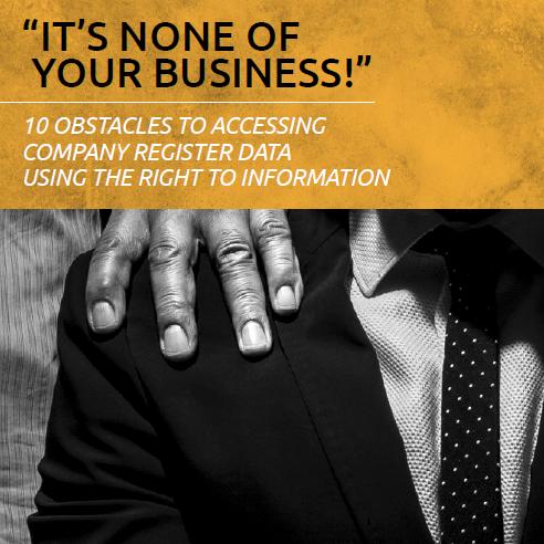 Non sono affari tuoi! Rapporto di Access Info sui registri chiusi delle società europee.