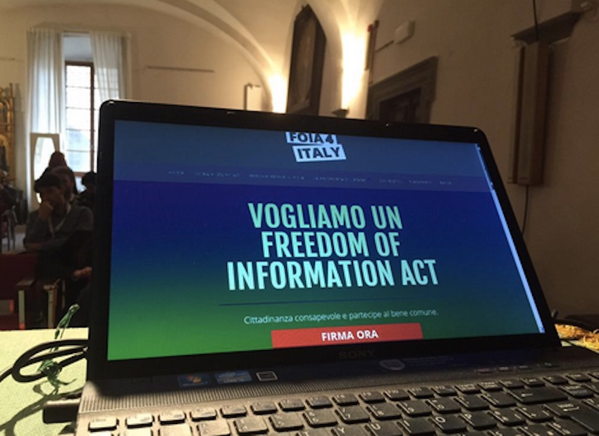 L'Italia ha un Freedom of Information Act