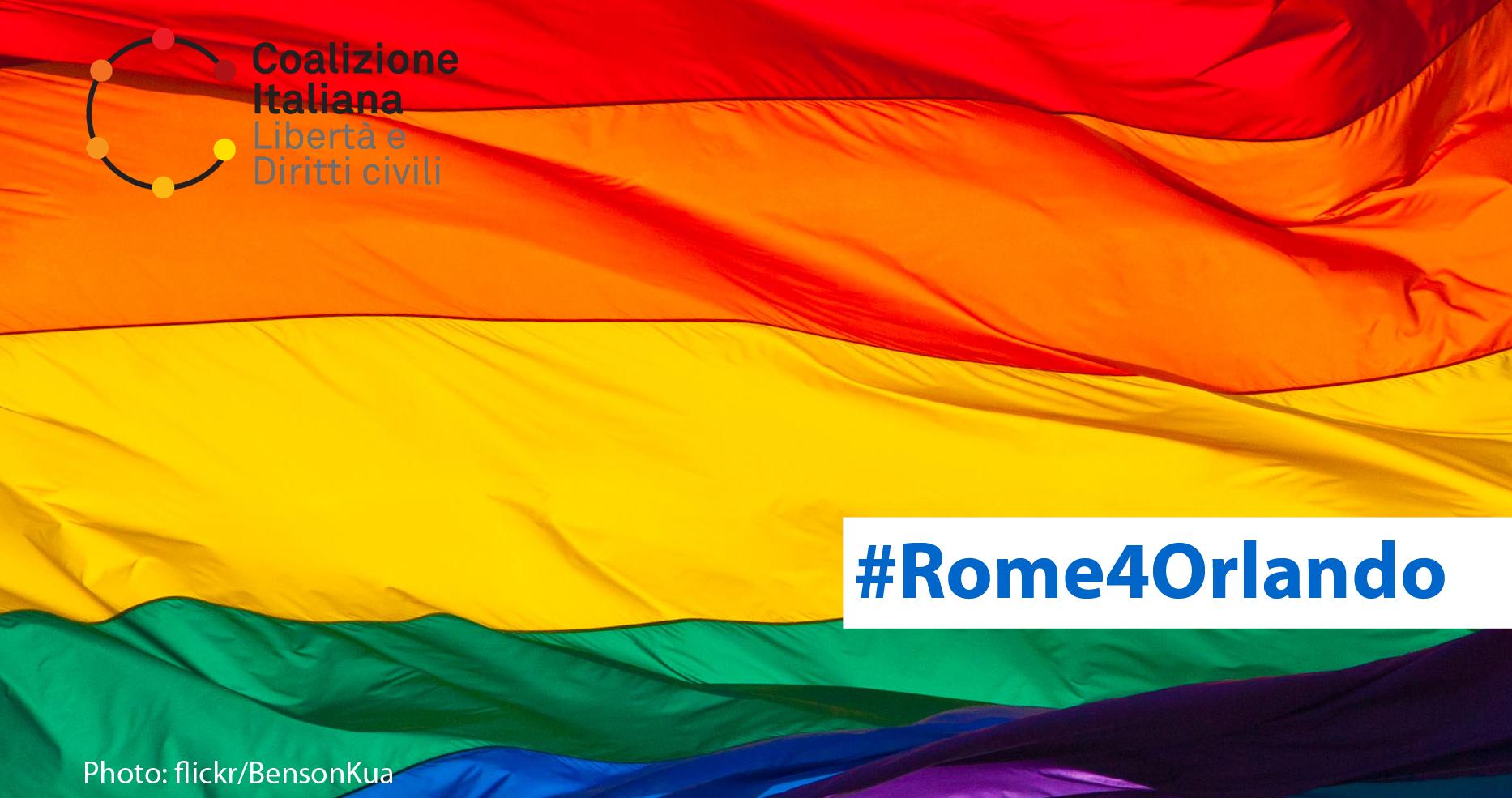 #Rome4Orlando: sit-in in solidarietà con la comunità LGBTI