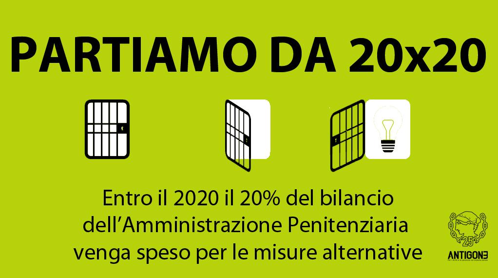Partiamo da 20×20: verso un nuovo modello di applicazione della pena in Italia