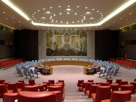 Il Consiglio di Sicurezza ONU (via Wikimedia).