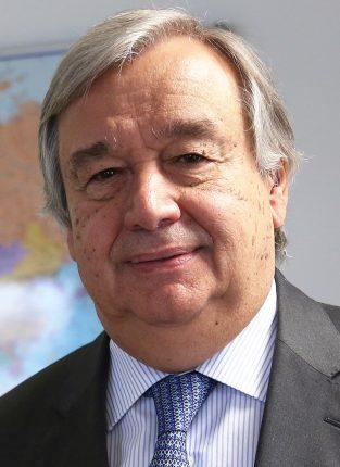Il Segretario Generale ONU António Guterres (via Wikimedia)