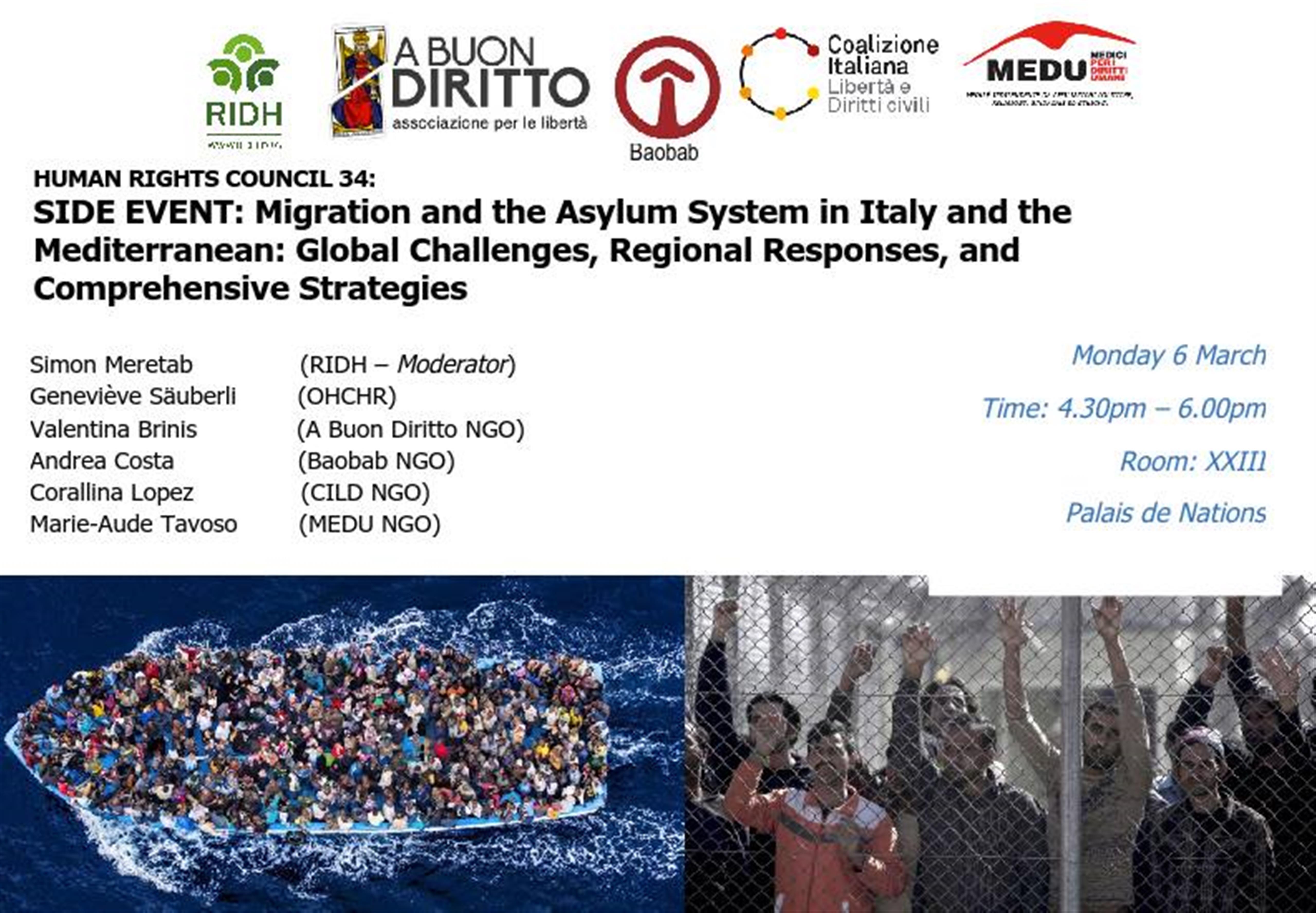 Diritti Umani ONU: CILD ad un incontro sulle migrazioni