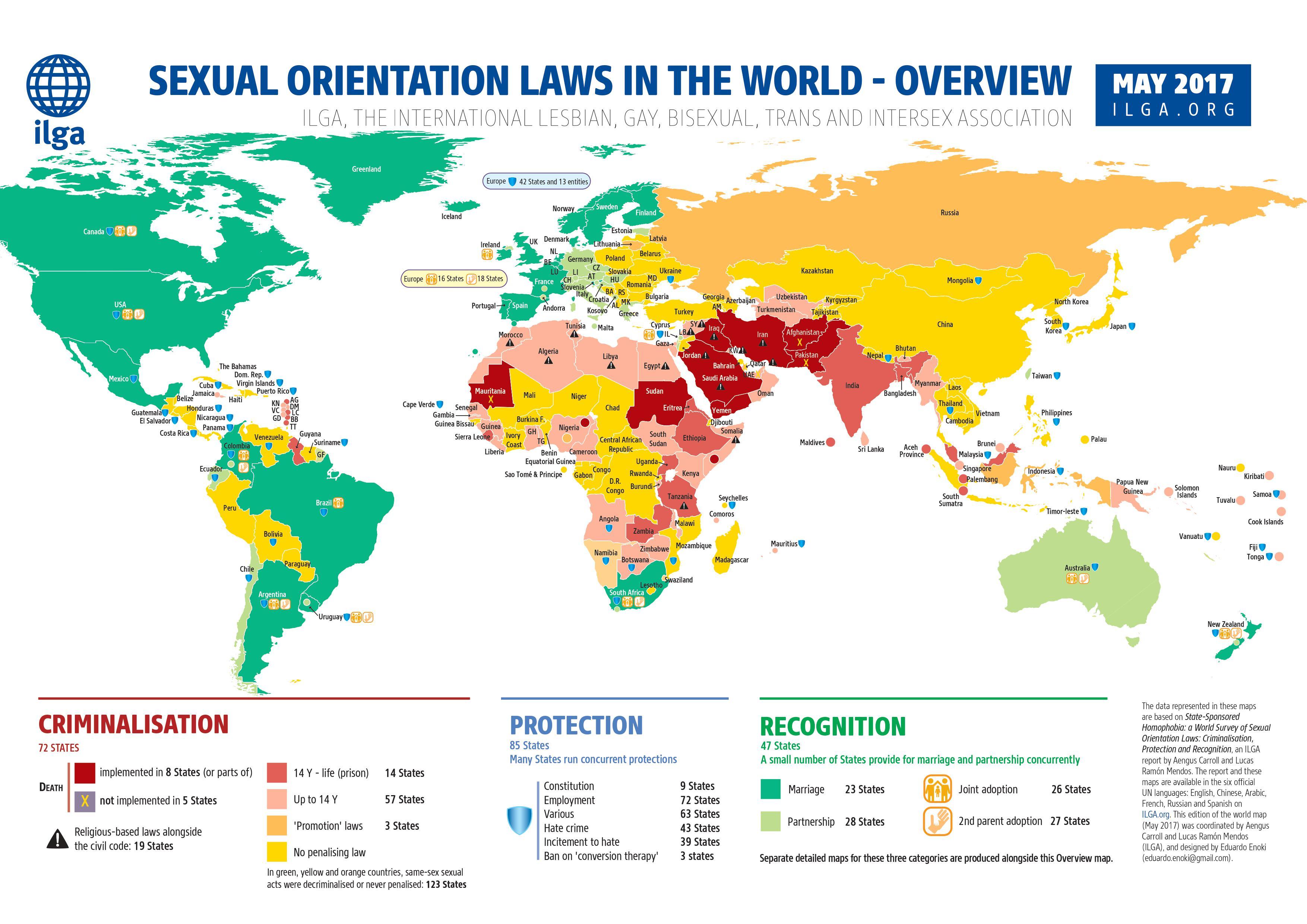 Mappa Rapporto ILGA