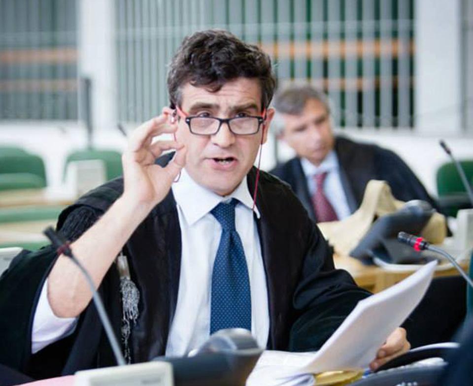 Arturo Salerni durante una delle udienze del processo Condor
