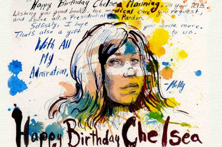 Dettaglio da Happy Birthday, Chelsea Manning – Molly Crabapple