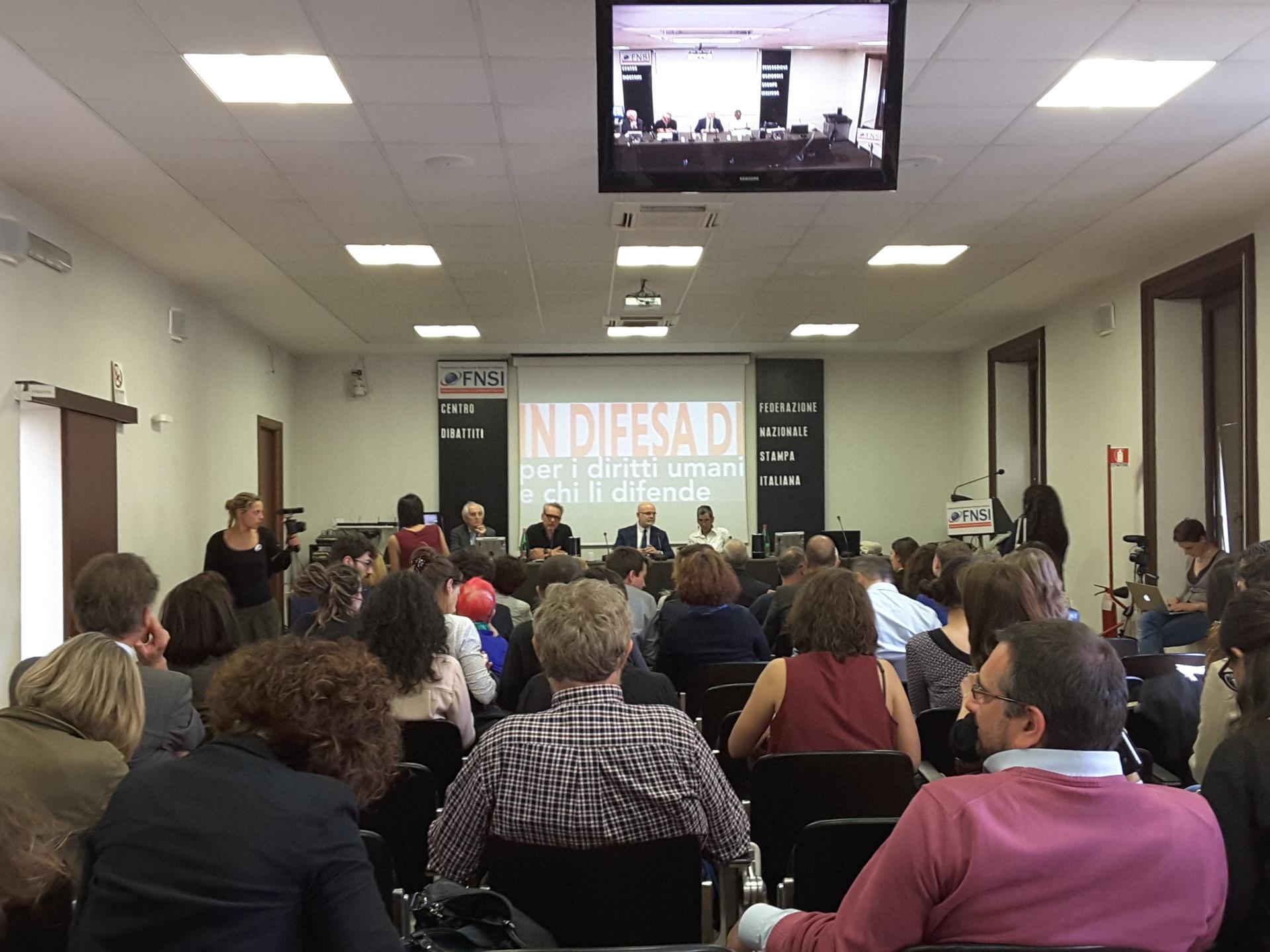 L'incontro organizzato a Roma dalla rete In difesa di con Michael Forst (credit: CILD)