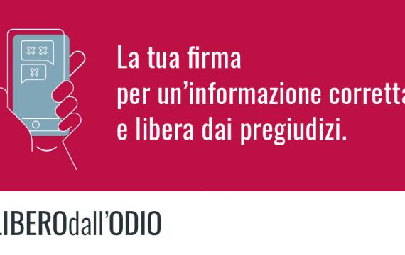 #LiberodallOdio, la campagna di 21 Luglio contro chi diffonde pregiudizi