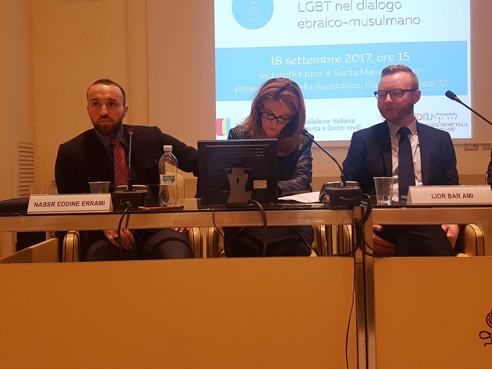 Nassr Eddine Errami e Lior Bar Ami intervengono durante il convegno
