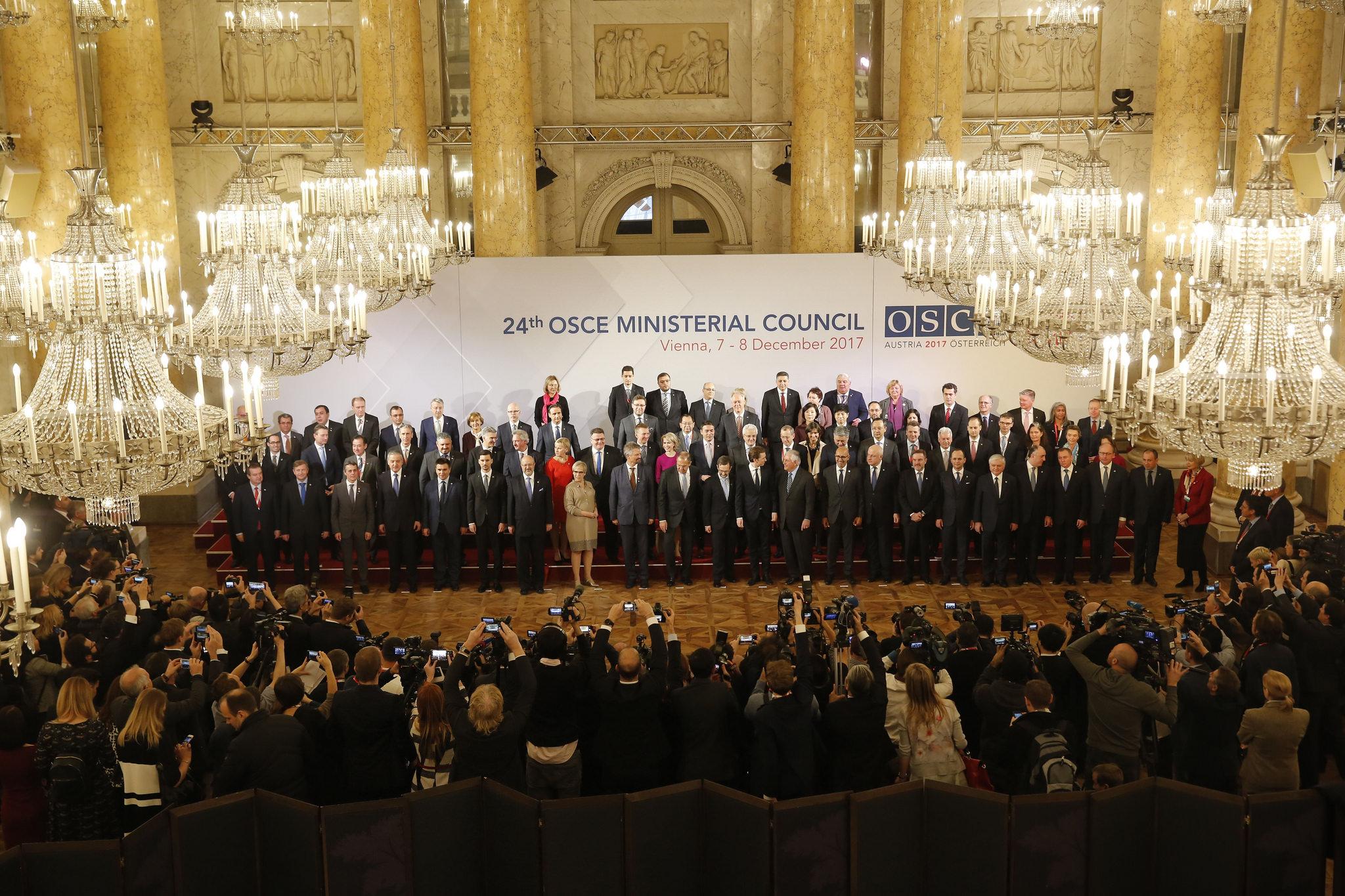 Il Consiglio dei Ministri Osce a Vienna a dicembre 2017 - via Osce PA (CC BY 2.0).