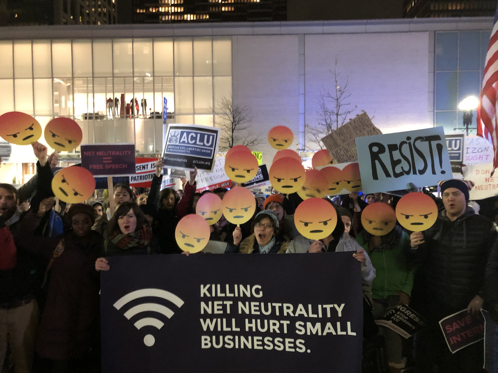 Protesta #StopTheFCC a Boston