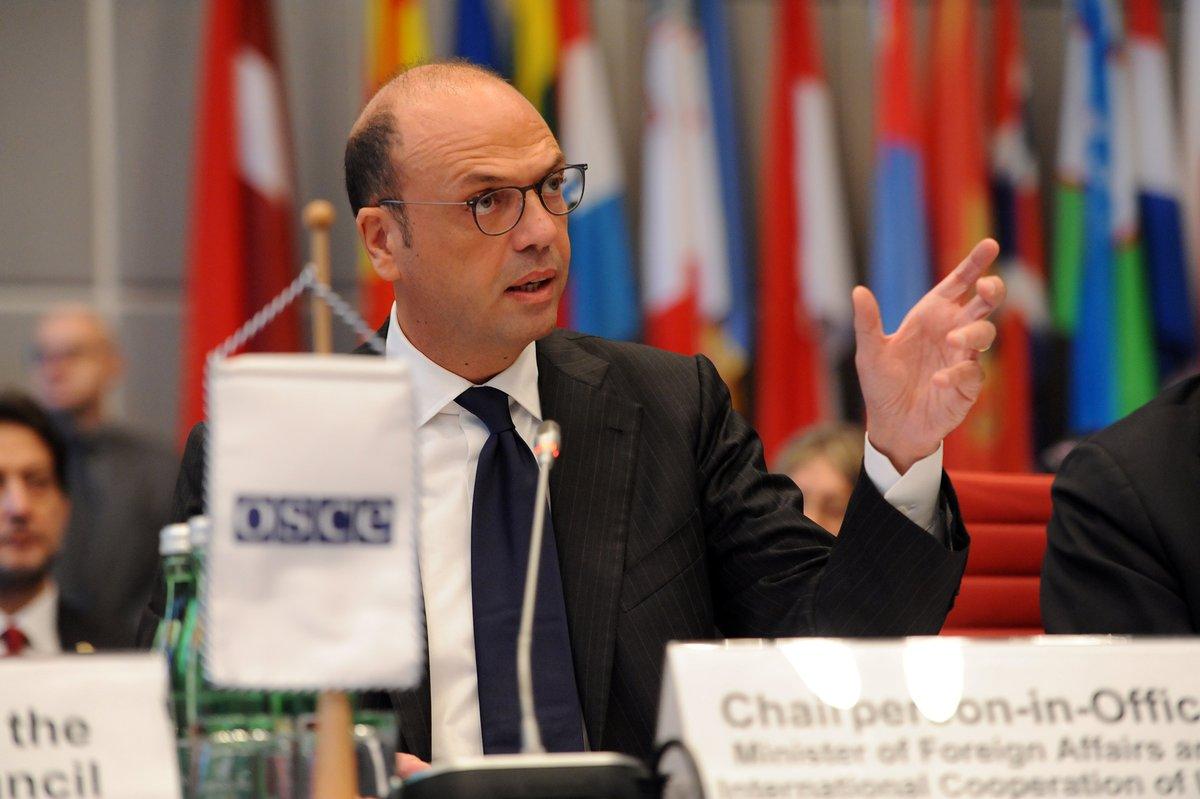 Il ministro Alfano, attuale Presidente Osce - foto via Italy at Osce