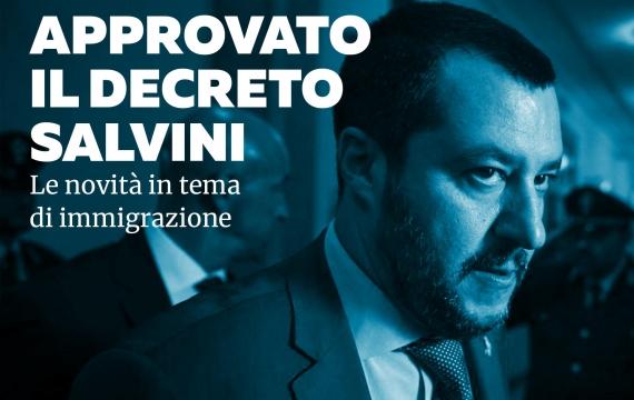 """Emanato il """"decreto Salvini"""": le novità in tema di immigrazione"""