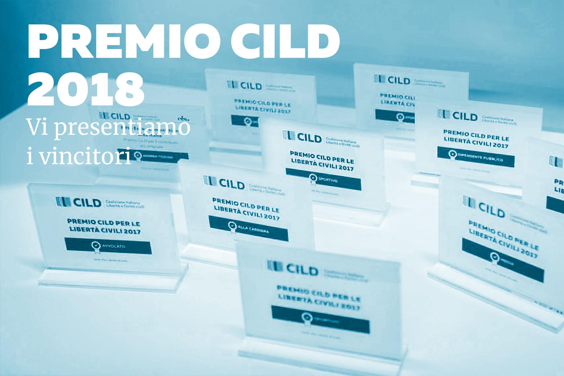 Premio CILD per le libertà civili. Ecco i vincitori dell'edizione 2018