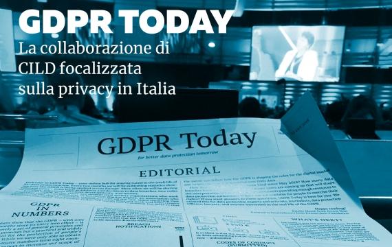 """EDRi presenta """"GDPR Today"""", iniziativa per la tutela della privacy"""