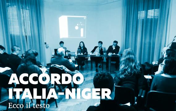 Accordo Italia-Niger: oggi abbiamo reso pubblico il testo